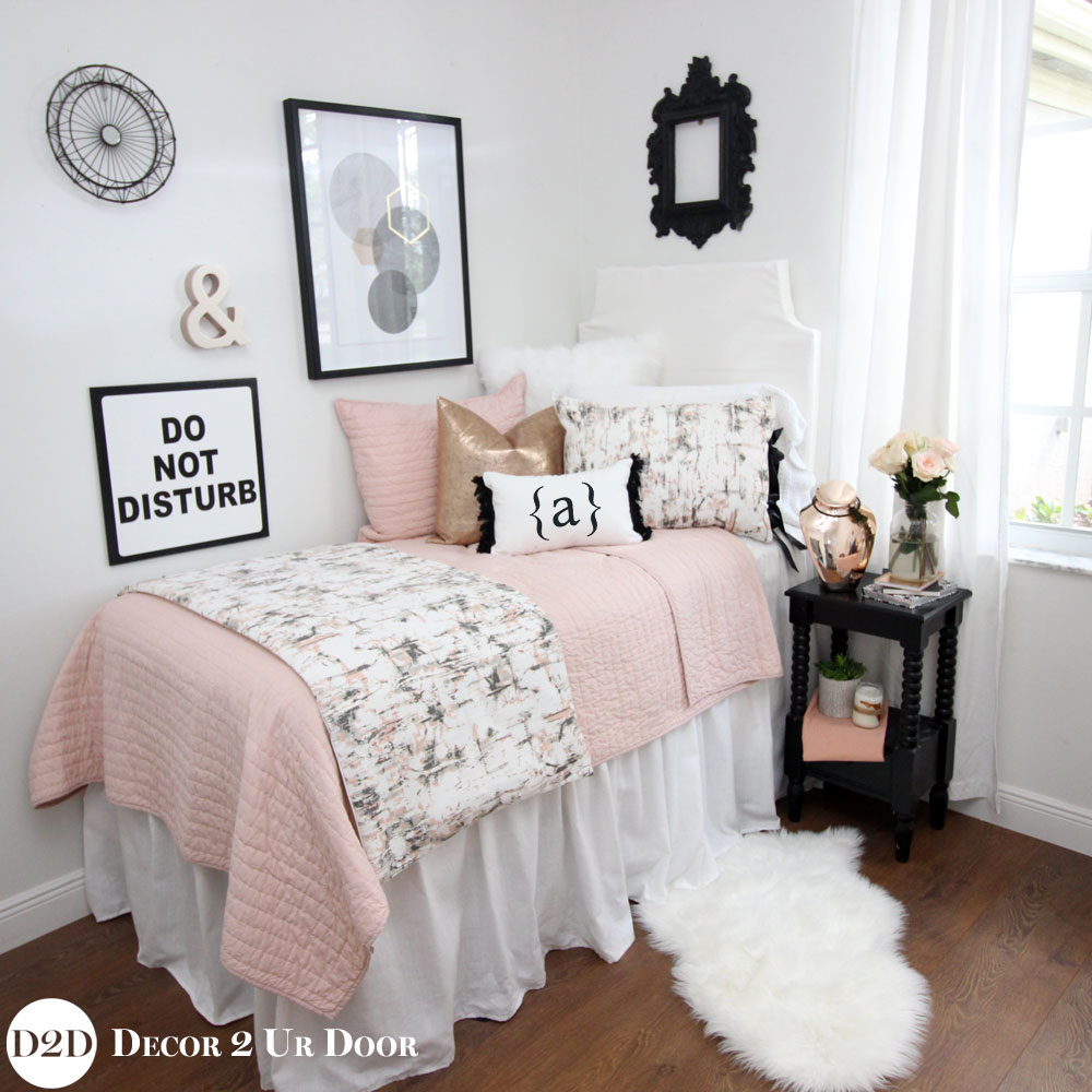 Metallic Dorm Bedding