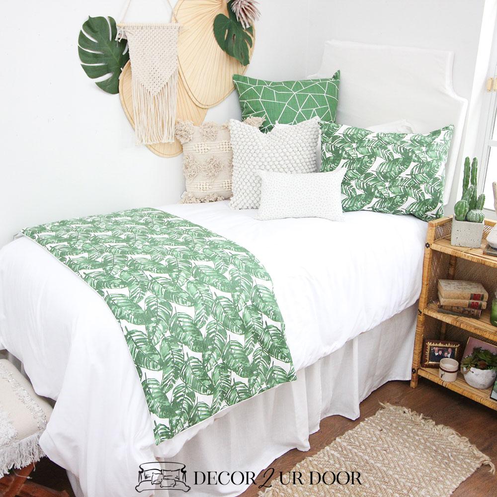 Green Leaf Dorm Bedding